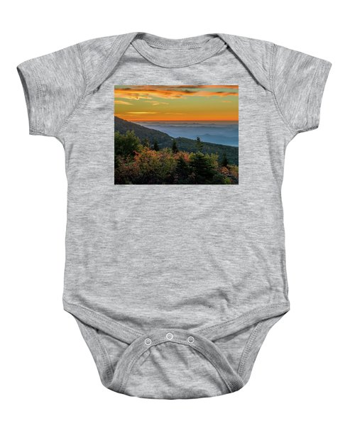 Rough Morning - Blue Ridge Parkway Sunrise Baby Onesie