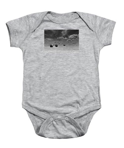 Round Straw Bales Landscape Baby Onesie