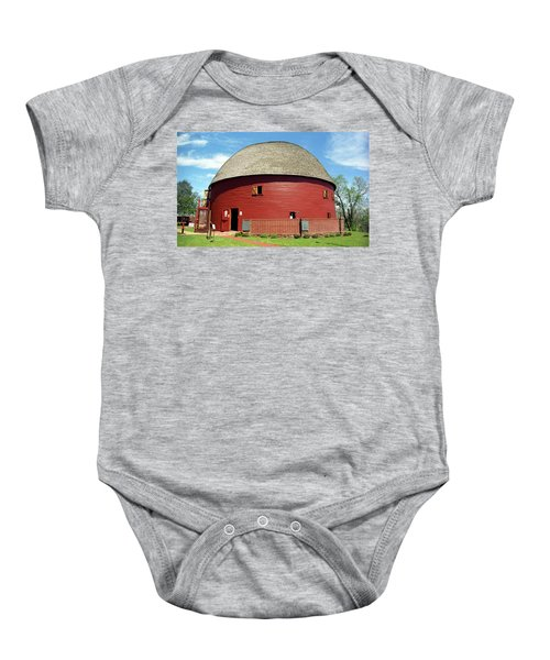 Baby Onesie featuring the photograph Route 66 - Round Barn by Frank Romeo