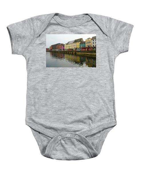 Row Homes On The River Lee, Cork, Ireland Baby Onesie