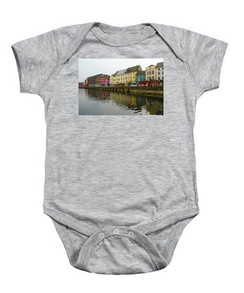 Row Homes On The River Lee, Cork, Ireland Baby Onesie