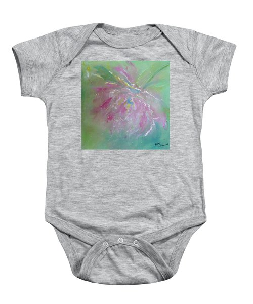 Ruby Red Peony Baby Onesie