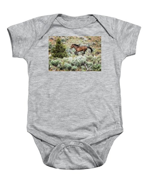Running Through Sage Baby Onesie