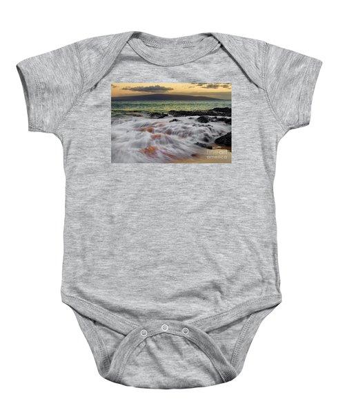 Running Wave At Keawakapu Beach Baby Onesie