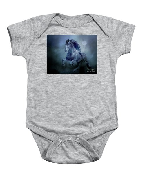 Running With The Moon Baby Onesie