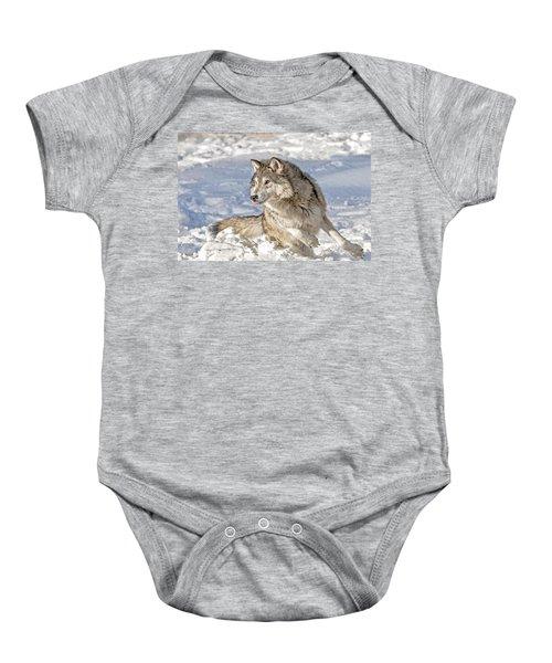 Running Wolf Baby Onesie