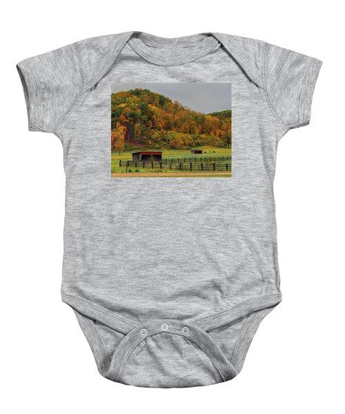 Rural Beauty In Ohio  Baby Onesie