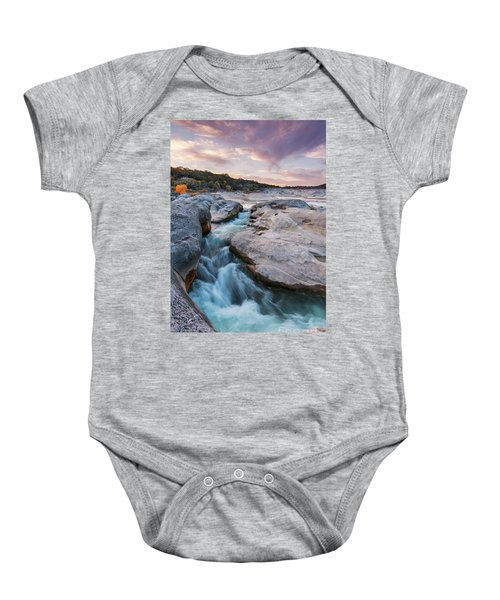 Rushing Waters At Pedernales Falls State Park - Texas Hill Country Baby Onesie