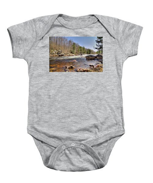Baby Onesie featuring the photograph Rushing Waters Of The Moose River by David Patterson