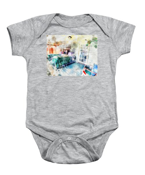 Rustic Look Bedroom Baby Onesie
