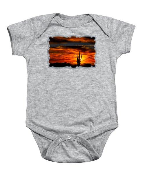 Saguaro Sunset H31 Baby Onesie