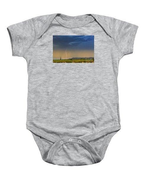 Saguaro With Lightning Baby Onesie