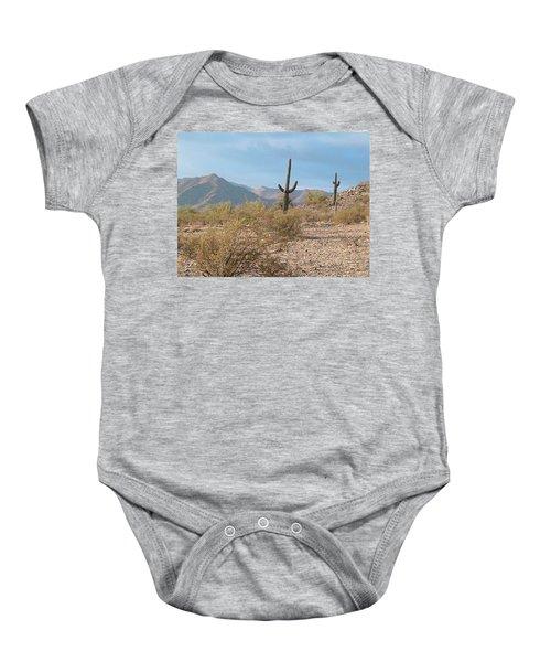 Saguaros On A Hillside Baby Onesie