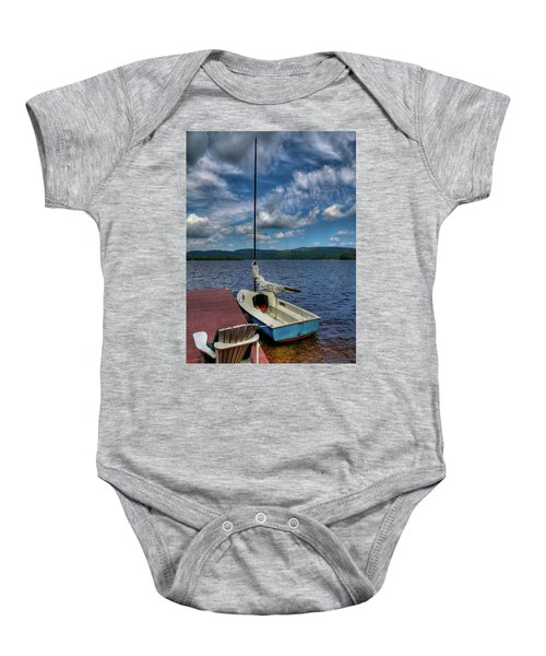 Sailboat On First Lake Baby Onesie