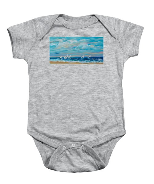 Sailing Close To The Shore Baby Onesie