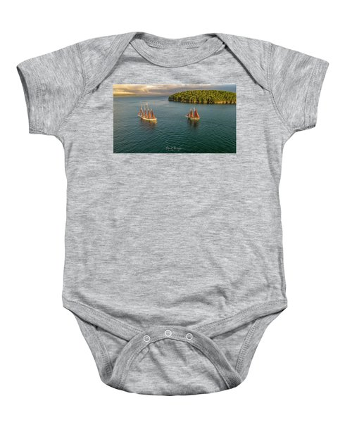 Sailing Frenchman Bay Baby Onesie