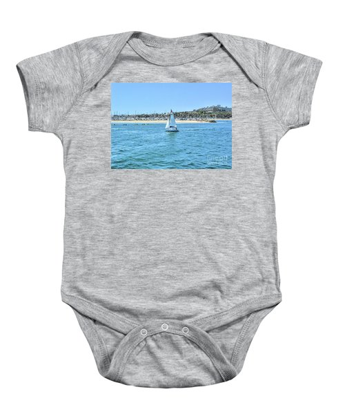 Sailing Out Of The Harbor Baby Onesie