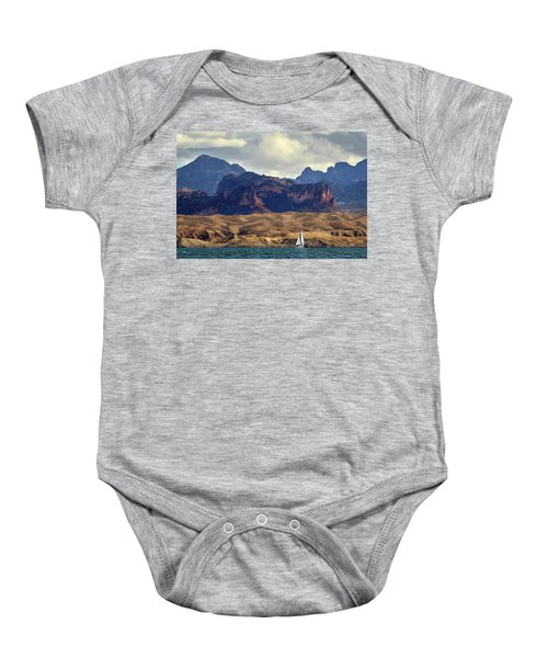 Sailing Past The Sleeping Dragon Baby Onesie