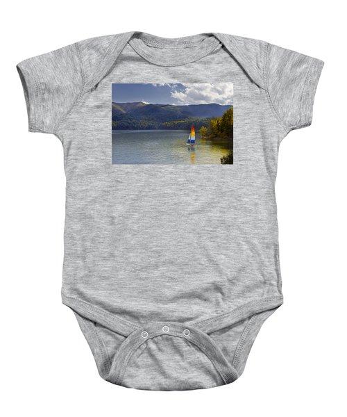 Sailing The Mountain Lakes Baby Onesie