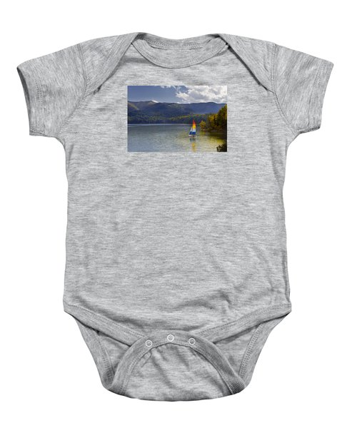 Sailing The Mountain Lakes Baby Onesie