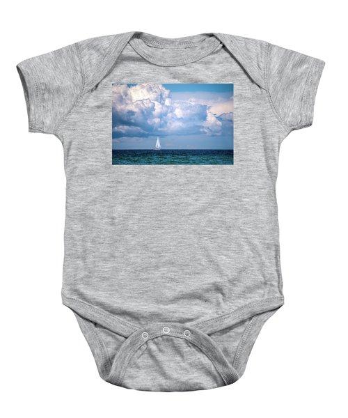 Sailing Under The Clouds Baby Onesie