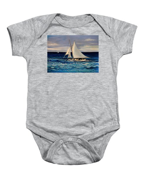 Sailing With The Waves Baby Onesie