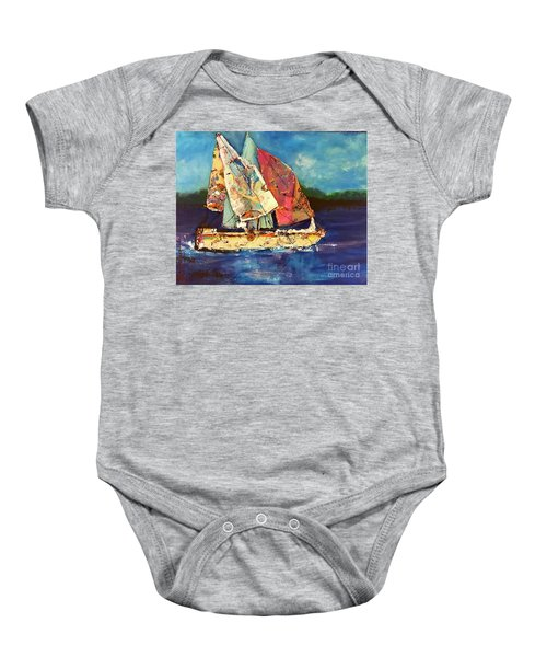 Sails Away Baby Onesie