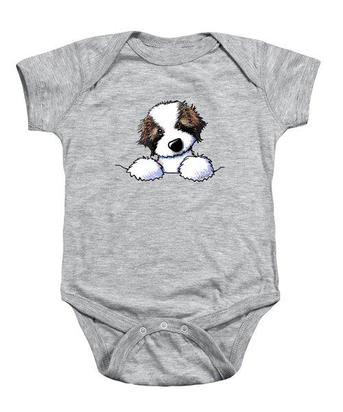 Saint Bernard Puppy Baby Onesie by Kim Niles
