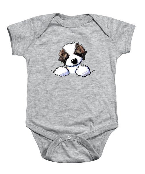 Saint Bernard Puppy Baby Onesie