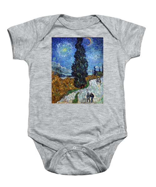 Saint-remy Road With Cypress And Star Baby Onesie