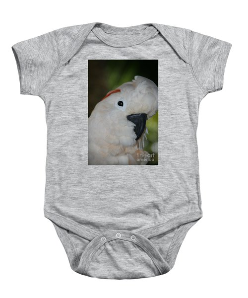 Salmon Crested Cockatoo Baby Onesie by Sharon Mau