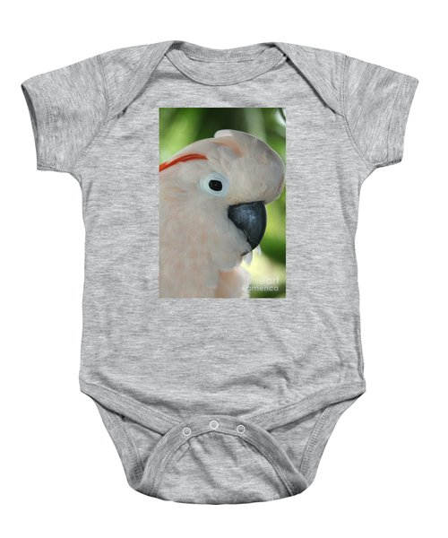 Salmon Crested Moluccan Cockatoo Baby Onesie by Sharon Mau