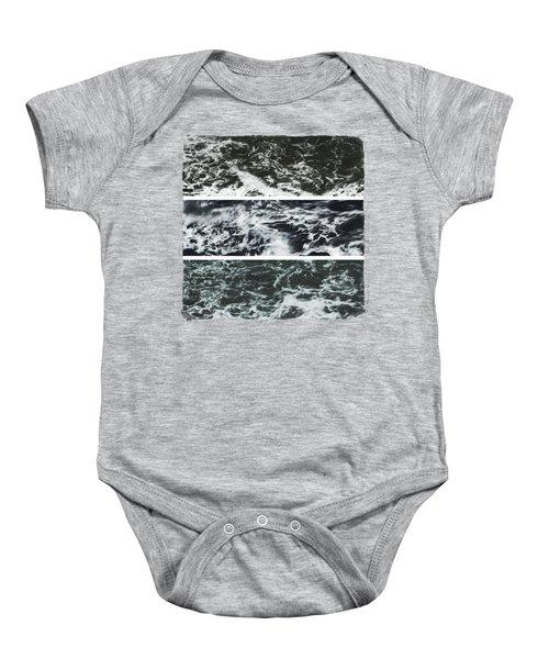 Saltwater Triptych Variation 3 Baby Onesie