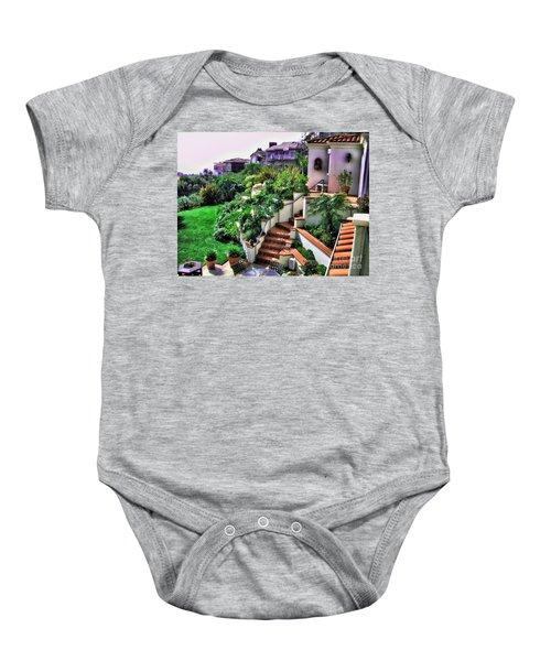 San Clemente Estate Backyard Baby Onesie