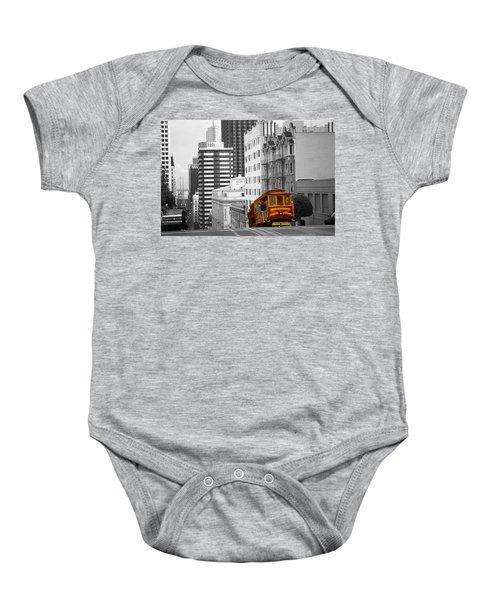 San Francisco Cable Car - Highlight Photo Baby Onesie