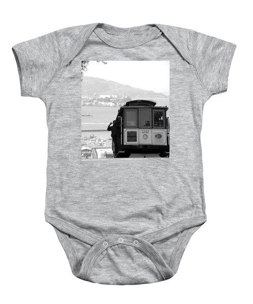 San Francisco Cable Car With Alcatraz Baby Onesie