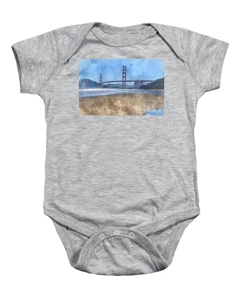 San Francisco Golden Gate Bridge In California Baby Onesie