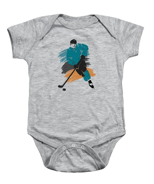 San Jose Sharks Player Shirt Baby Onesie by Joe Hamilton