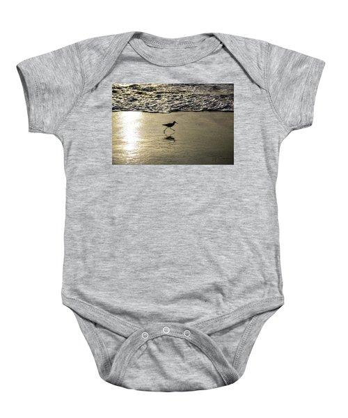 Sand Piper Dash Baby Onesie