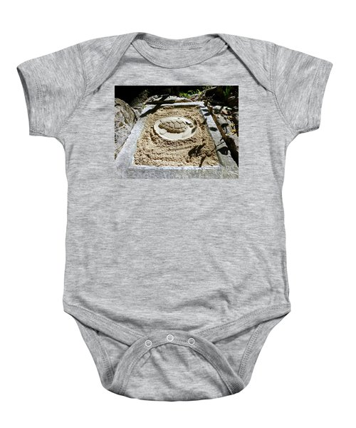 Baby Onesie featuring the photograph Sand Turtle Print by Francesca Mackenney