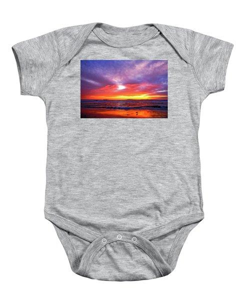 Sandpiper Sunset Ventura California Baby Onesie