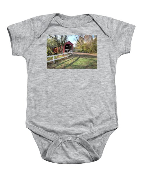 Sandy Creek Covered Bridge Baby Onesie