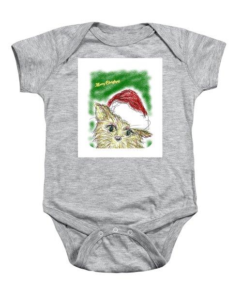 Santa Cat Baby Onesie