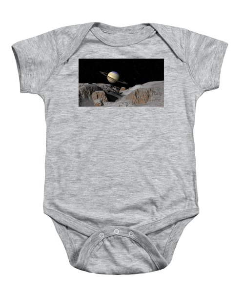 Saturn From The Moon Dione Baby Onesie