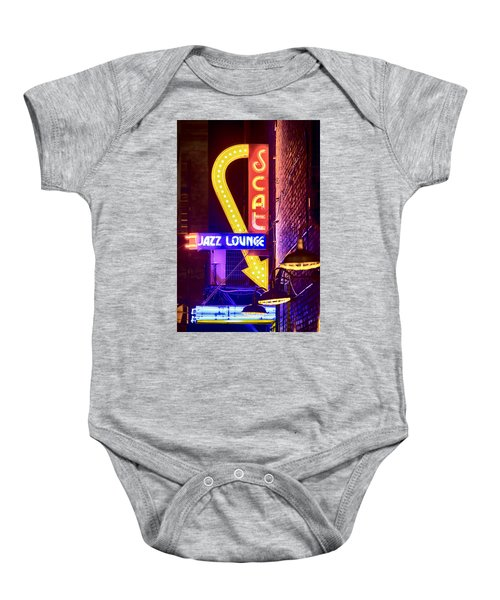 Scat Jazz Neon V3 Baby Onesie