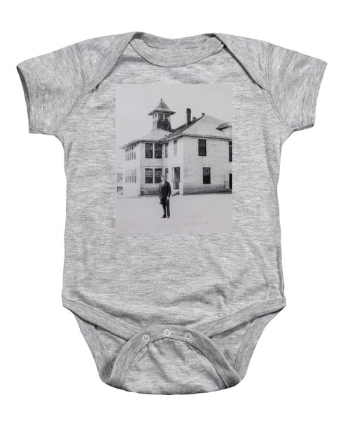 School 1901 Back Baby Onesie