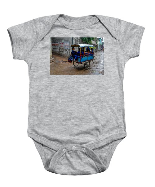 School Cart Baby Onesie