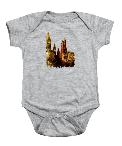 School Of Magic Baby Onesie by Anastasiya Malakhova