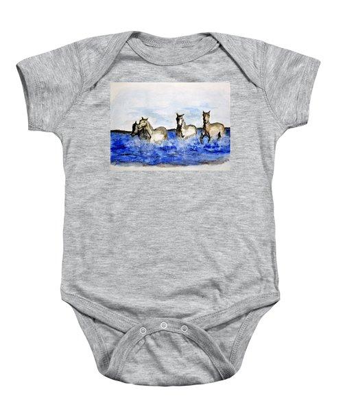 Sea Horses Baby Onesie