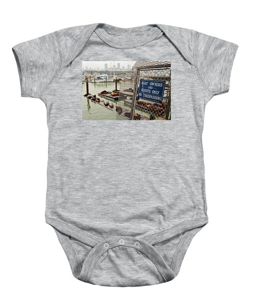 Sea Lions Take Over, San Francisco Baby Onesie